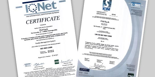 Certifications quality system