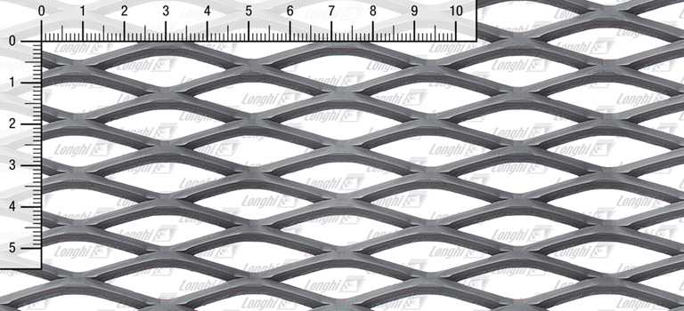 Expanded metal grating in carbon steel Type 43