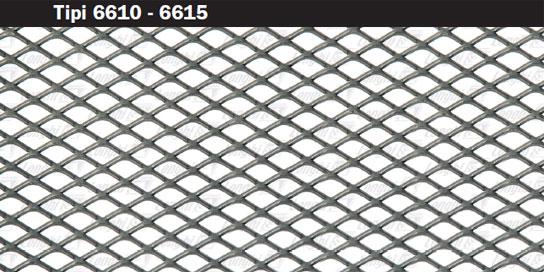 Expanded metal mesh minimum long diagonal