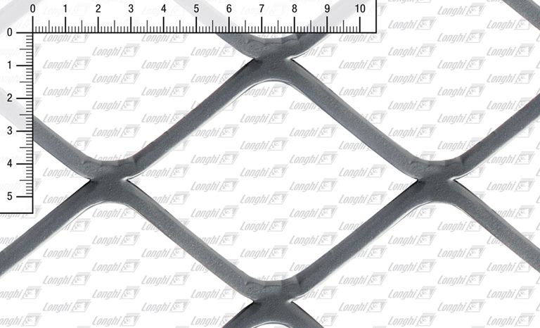 Expanded metal square mesh flattened Type SQ100
