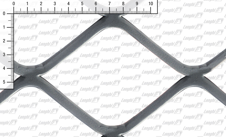 Expanded metal square mesh flattened Type SQ120