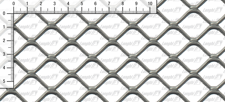 Expanded metal square mesh flattened Type SQ30