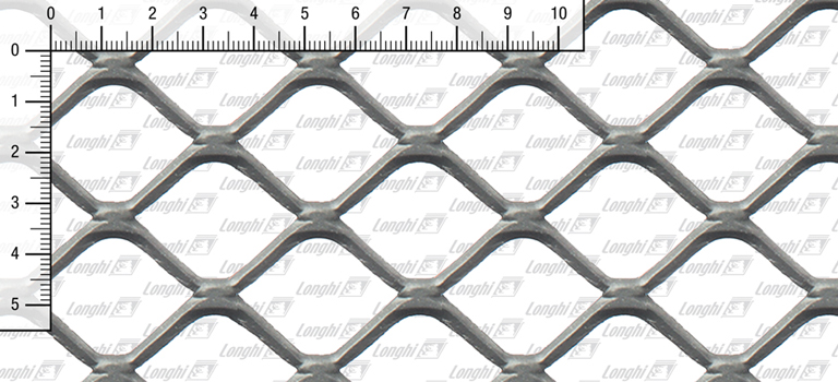 Expanded metal square mesh flattened Type SQ40