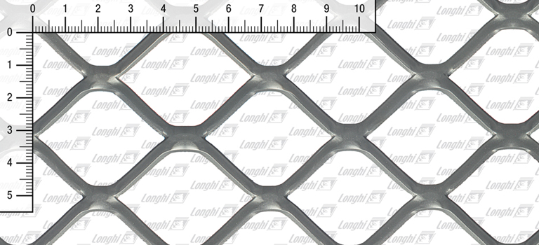 Expanded metal square mesh flattened Type SQ50