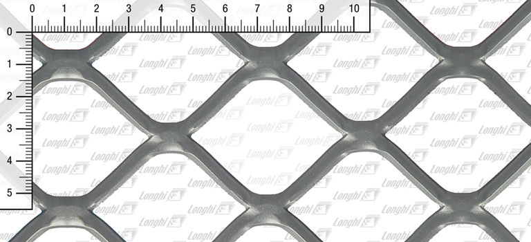 Expanded metal square mesh flattened Type SQ60