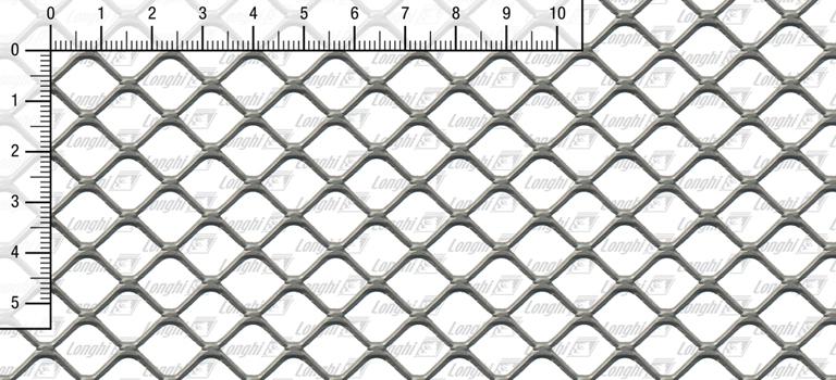 Lamiera stirata maglia quadra spianata Tipo SQ16