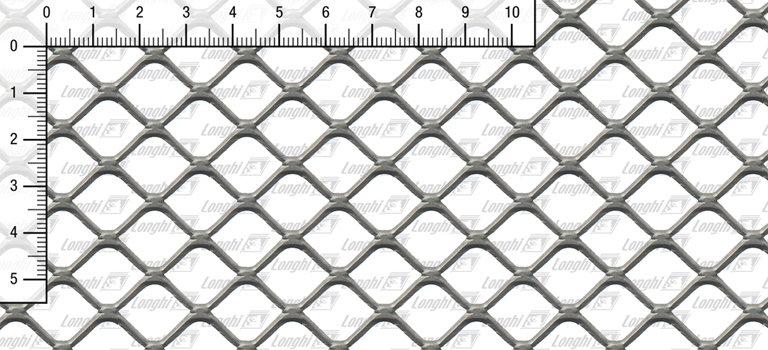 Expanded metal square mesh flattened Type SQ20