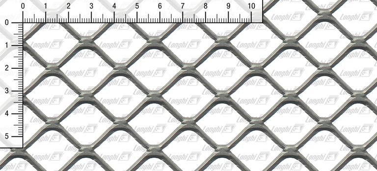Lamiera stirata maglia quadra spianata Tipo SQ30