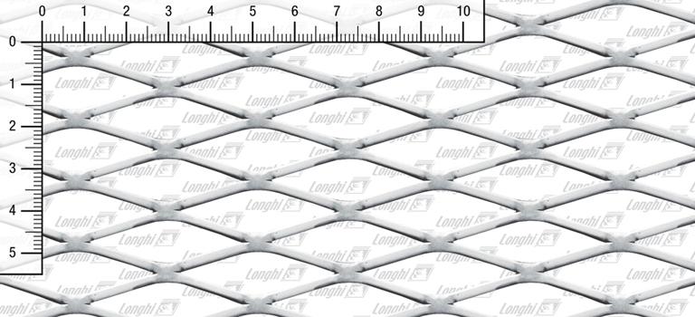 Lamiere stirate romboidali in acciaio inossidabile AISI 304 Tipo S17 spianate
