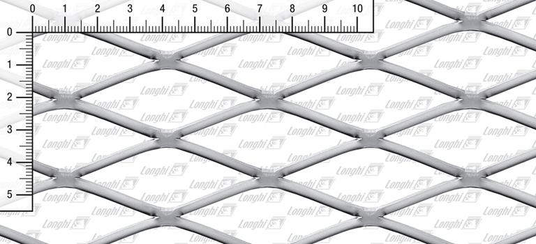 Lamiere stirate romboidali in acciaio inossidabile AISI 304 Tipo S220 spianate