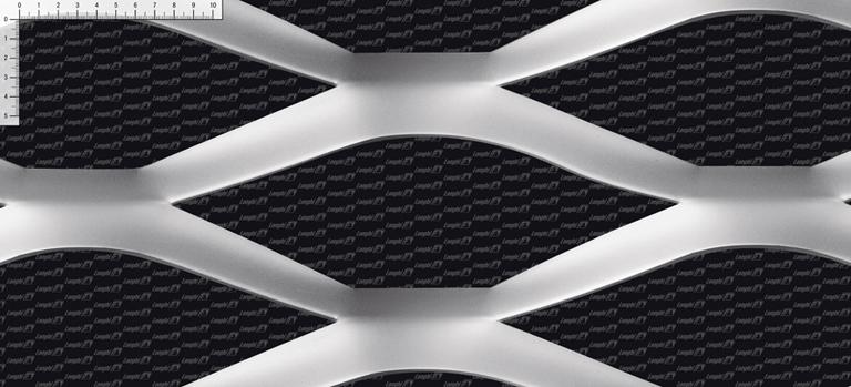 Rete stirata Meridiana - Linea maglie metalliche per architettura