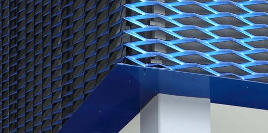 Streckmetall Unterbau Fassadenecke