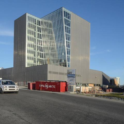 Rivestimento facciata in lamiera stirata espansa Nuuk Center foto 3