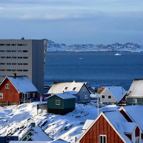 Rivestimento facciata in lamiera stirata espansa Nuuk Center foto 4