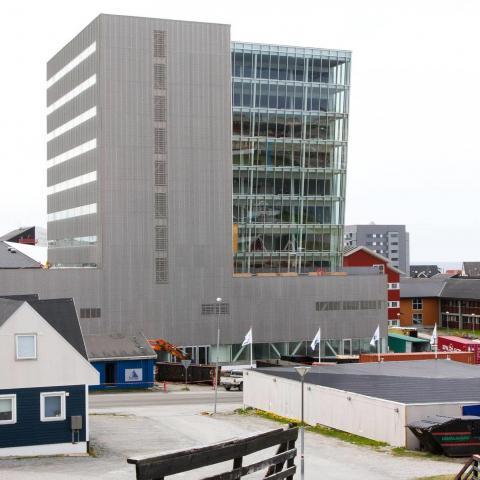 Rivestimento facciata in lamiera stirata espansa Nuuk Center foto 6