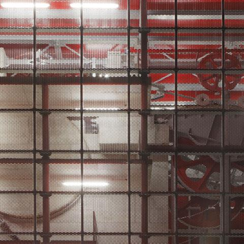 Protezione impianti stazione sciistica in rete stirata